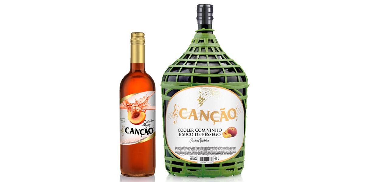 Wine Cooler Peach Vinhos Canção